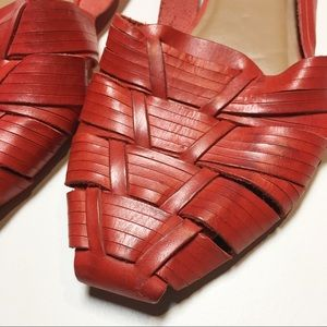 7bd326aff924b Ecote Shoes - Ecote Red Huarache Leather Sandals size 7